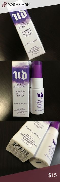 Urban Decay | ALL NIGHTER Setting Spray In a 7-day clinical study: • 78% of participants said All Nighter helped their makeup last for 16 hours. • Over 80% said their makeup not only looked better, it stayed on better (even in the T-zone) without settling into fine lines.  • Whether they had combination, oily or dry skin, 88% or more said All Nighter was the best product to help their makeup last. Urban Decay Makeup Face Primer
