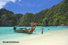 Maya Bay is a stunningly beautiful bay that's sheltered by 100-metre high cliffs on three sides. Inside the bay there are several beaches, most are small and some only exist at low tide. The main one is around 200 metres long with silky soft white sand, underwater