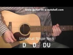 Guitar Lessons - My Top 3 Guitar Strums! includes sample song ideas for each strum