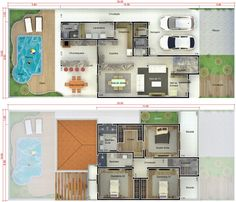 Floor plan of a master suite with dressing room, two bedrooms, intimate bathroom, . Office Building Architecture, Modern Architecture House, Facade Architecture, Office Buildings, Chinese Architecture, Futuristic Architecture, Modern Houses, Duplex House Design, Modern House Design