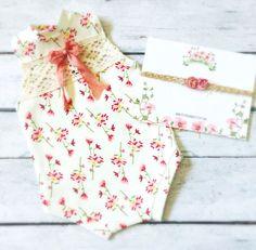 Newborn Floral Print Romper Baby Girl Pink by PetuniaandIvy