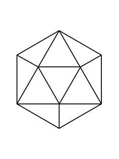 Icosahedron: Platonic solid used in Sacred Geometry