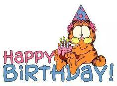 Birthday Wishes ~~ Happy Brithday, Happy Birthday Kids, Happy Birthday Pictures, Happy Birthday Quotes, Happy Birthday Greetings, Birthday Greeting Cards, Birthday Clips, Art Birthday, Garfield Birthday