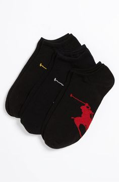 Polo Ralph Lauren No-Show Socks (3-Pack) (Men) | Nordstrom