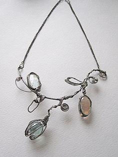 Tiffany glass necklaceelegant necklacedelicate by MaryBulanova