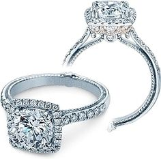 prong setting engagement rings halo - Google Search