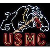 US MC Neon Sign