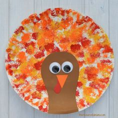 Turkey Plate Craft - Sponged Painted Thanksgiving Turkey Craft The Resourceful Mama Paper Plate Turkey Kids Craft Kids Fall Crafts Thanksgiving Paper Plate Turkey Thanksgi. Turkey Crafts Preschool, Fall Crafts For Kids, Toddler Crafts, Preschool Crafts, Kids Crafts, Kindergarten Crafts, Craft Kids, Craft Box, Thanksgiving Preschool