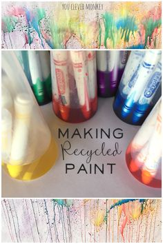 Making Recycled Paint - find our how we made these beautiful water colours at home using recycled materials | you clever monkey