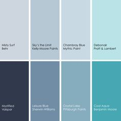 Blue Paint Picks For Dining Rooms Clockwise From Top Left 1 Misty