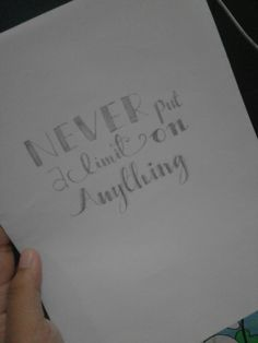 Never put a limit on anything #handlettering #quotes #justtryit