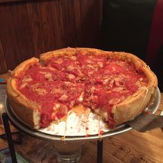 Deep dish pizza from Giordano's Chicago [OC] [1334x750]. iPhone 6/ 6S Wallpapers