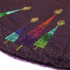 """56"""" Purple Razzberry Velvet Tree Skirt"""