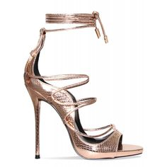 Harper Rose Gold Lace Up Stiletto Heels : Simmi Shoes found on Polyvore featuring shoes, heels, sandals, zapatos, rose gold stilettos, laced shoes, lace up pumps, stiletto heel shoes and laced up shoes