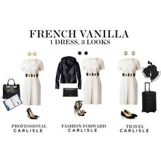 Carlisle: 1 dress, 3 ways by carlislecollection on Polyvore featuring Paul Andrew, Victorinox Swiss Army, Sophie Hulme, Valentino, Vince Camuto, Carolee, White House Black Market, summer2015 and CarlisleCollection