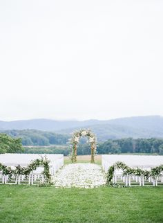 Spring wedding with classic shaded of blush and cream at Pippin Hill in North Garden, Virginia.