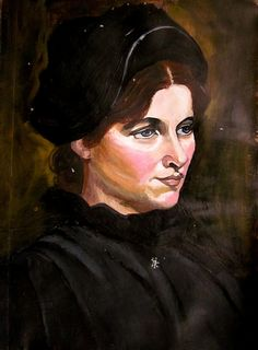 Study of Christian Krogh's Portrait, acrylic on gesso, by Lucy Chen