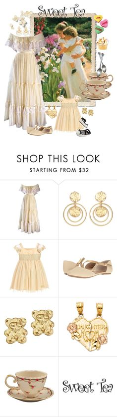 """""""Sweet Tea With Mom ♥"""" by giovanina-001 ❤ liked on Polyvore featuring Kenneth Jay Lane, Disney, Blowfish, BillyTheTree, Stonewear Designs and Gorham"""