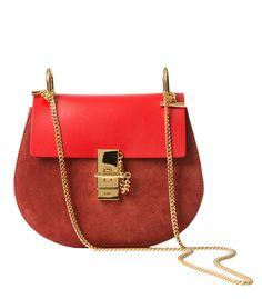 Chloe Suede & Leather Drew Bag