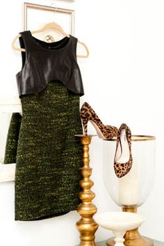 Another of my favourite colour/texture combos, that dress has a fantastic silhouette as well!