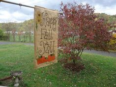 Happy Fall Y'all burlap Garden flag by NikkiDsCreations on Etsy, $25.00