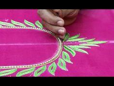 Hand Embroidery  Kora work:Zardosi Work - YouTube