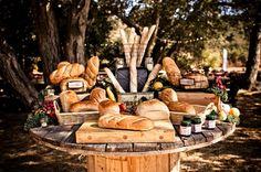 Rustic Bread Table