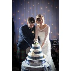 Rugby Themed Wedding Cake Cutting at Barony Castle                              …