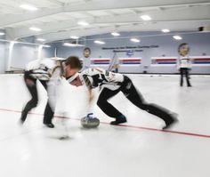 Jo and miskew sweeping in practice at the Ottawa curling club Curling Canada, Ottawa, Archery, Curls, Rocks, Club, Lady, Sports, Bow Arrows