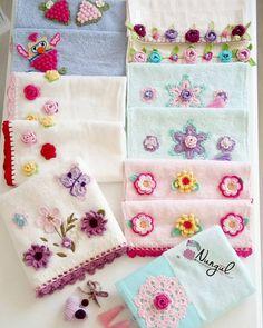 Fotoğraf açıklaması yok. Crochet Towel, Crochet Fabric, Crochet Flower Patterns, Crochet Shawl, Crochet Doilies, Crochet Flowers, Diy Cushion, Crochet Kitchen, Crochet Squares