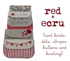 Countrykitty: Red +  ecru = love!