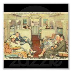Poster-Vintage Chicago Travel Art-3