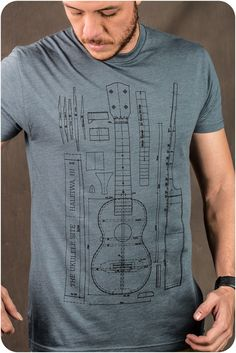 The Ukulele Site T-Shirt  - Blue Print