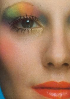 Denise Hopkins - Vogue Italia by Barry Lategan, April 1971 I can't believe I wore make-up like this-SMH! 1970s Makeup, Retro Makeup, Vintage Makeup, Vintage Beauty, Patti Hansen, Beauty Makeup, Hair Makeup, Theatrical Makeup, Makeup Inspiration