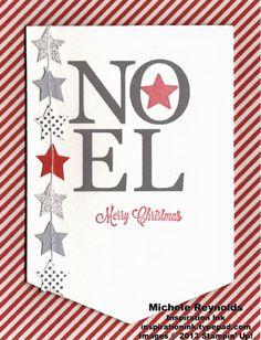 My alternate version of the Stampin' Up! November Paper Pumpkin Noel Monthly Kit.  #paperpumpkin