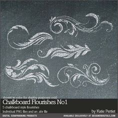 Chalkboard Flourishes Brushes and Stamps No. 01