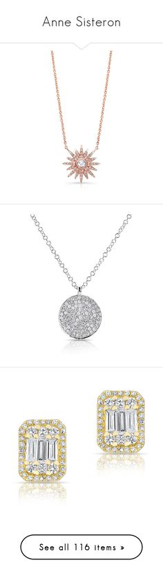 """""""Anne Sisteron"""" by cecilialukas ❤ liked on Polyvore featuring jewelry, necklaces, accessories, joias, rose, pave necklace, rose jewelry, diamond star necklace, rose necklace and star necklace"""