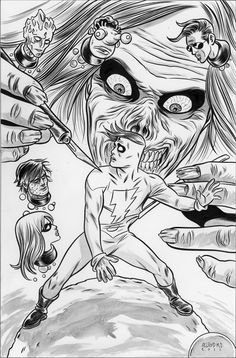 Madman Stalked by  The Cadaver  by Mike Allred (Trophy Wall) Comic Art