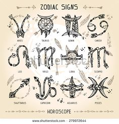 Set of hippie and bohemian style hand drawn zodiac signs. With decorative indian… Set of hippie and bohemian style hand drawn zodiac signs. With decorative indian and boho elements: arrows, feathers, indian ornament. Hippie Stil, Hippie Bohemian, Bohemian Style, Bohemian Fashion, Future Tattoos, New Tattoos, Body Art Tattoos, Boho Tattoos, Bohemian Tattoo Ideas