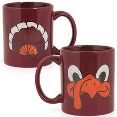 Maroon ceramic mug with Hokie Bird face on front and tail feathers on back in black, white, and orange imprint. Vt Football, I Love My Hubby, Virginia Tech Hokies, Face Mug, Gadget Gifts, My Cup Of Tea, Fabric Painting, Painted Rocks, Great Gifts