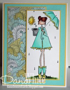 Uptown Girl Lolly and her Brolly - image from Stamping Bella