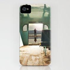 Emergency Door iPhone Case by Rachel Bellinsky