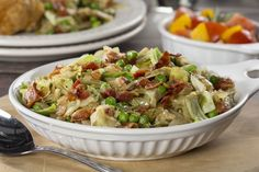 Buttery Cabbage | MrFood.com | I would substitute spicy/hot Italian turkey sausage for the bacon or use turkey bacon (thick cut) or even turkey pepperoni