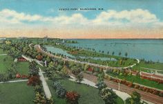 """Reproduction postcard from a vintage Juneau Park, Milwaukee, Wisconsin postcard.  Circa: Early 1900's.  6"""" x 4""""  All products are professionally printed in the USA"""
