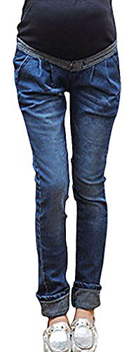 MIAMAMA Womens Maternity Elastic Waist Comfortable Denim Pants Regular Jeans >>> Check this awesome product by going to the link at the image. (This is an affiliate link and I receive a commission for the sales) Maternity Jeans, Denim Pants, Elastic Waist, Image Link, Note, Amazon, Awesome, Check, Clothes