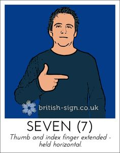 Today's British Sign Language sign from www.british-sign.co.uk is: SEVEN #BSL #SignLanguage