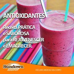 Suco de frutas vermelhas antioxidante. Aprenda a receita no Blog 365 dias de amor por seu corpo - http://www.declareamor.com.br/suco-de-frutas-vermelhas-antioxidante/