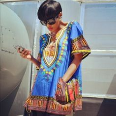 Traditional Print Dashiki TRADITIONAL PRINT DASHIKI  Layered stand-out design. The border color on the dashiki may vary from the picture. One size fits all. 100% cotton, best if hand washed.
