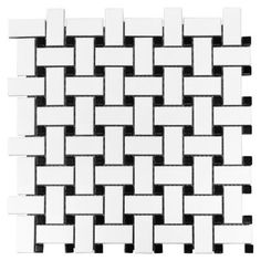 <p>This contemporary finish White and Black Basket Weave Porcelain Mosaic is 12in. x 12in.</p><p>Porcelain tiles are strong and long-lasting making them ideal for use in high-traffic or outdoor living areas. Porcelain is an excellent choice to decorate your walls or floors and comes in a variety of colors sizes and textures. With proper installation porcelain tiles can last for years with very little maintenance.</p>