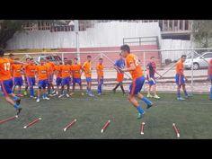 Entrenamiento fisico tecnico futbol - YouTube